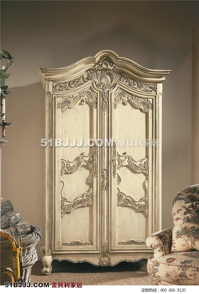 商品编号: 欧式雕花衣柜 说 明: 我们提供一对一整体设计定制服务
